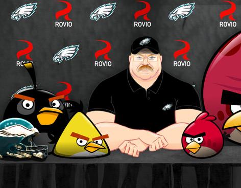 Angry Birds y las Águilas de Filadelfia se unen para una nueva versión del juego - angry-birds-NFL