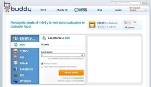 Conectarse a Messenger desde la Web con eBuddy