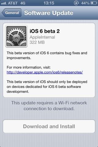 Segunda beta de iOS 6 es publicada por Apple