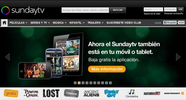 sunday.tv otra opción para ver series y películas gratis o de pago - sundaytv_