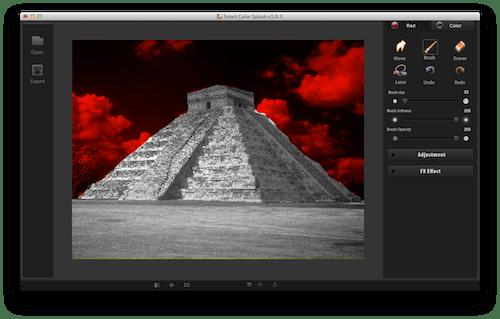 Captura de pantalla 2012 07 17 a las 18.46.51 Color Splash Smart, increíble y sencilla aplicación para agregar efectos a tus fotos en Mac