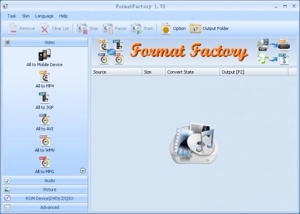 FormatFactory 590x421 Convierte archivos entre formatos con estas geniales aplicaciones para tu computadora