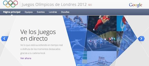 Sigue en directo los Juegos Olímpicos Londres 2012 desde Google