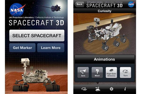 Nasa Spacecraft 3d Spacecraft, la app de la NASA que te permite controlar sus robots
