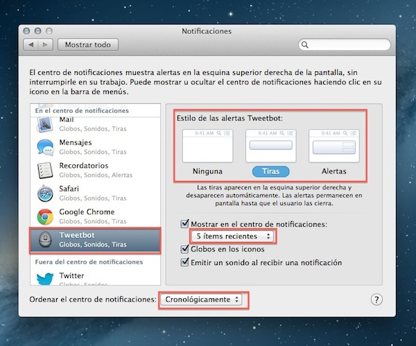 Notificaciones mountain lion Cómo personalizar el Centro de Notificaciones en Mountain Lion