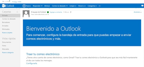 Outlook Hotmail se transforma en Outlook