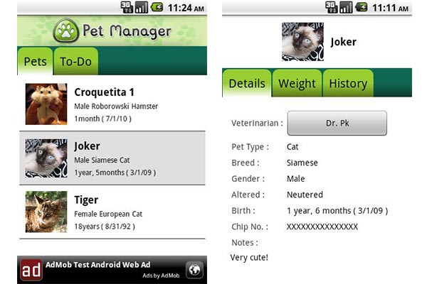 Pet Manager Free, una app que te ayuda a llevar el control de tu mascota - Pet-manager-free
