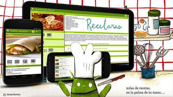 Apps para cocinar con la ayuda de tu smartphone o tablet - Recetario-Android-app