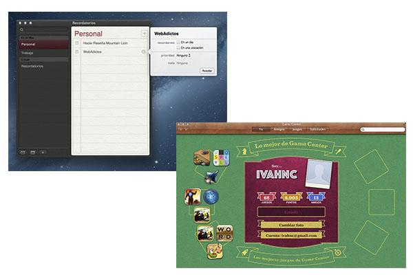 Recordatorios Game Center OS X 10.8 Mountain Lion, uno de los mejores sistemas operativos de Apple [Reseña]