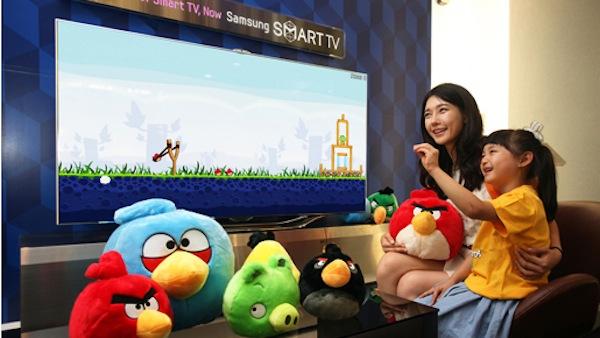 Samsung presenta una nueva Smart TV con reconocimiento de voz y gestos con Angry Birds