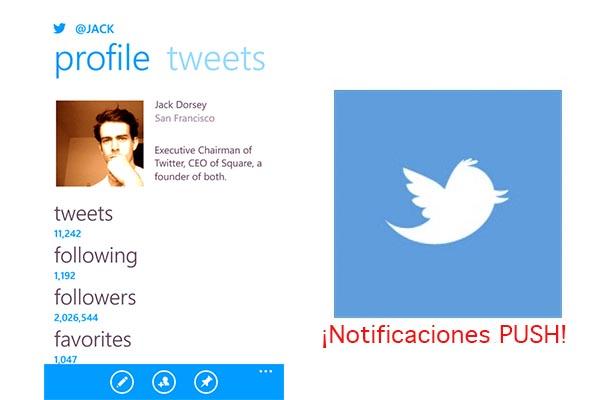 Twitter para Windows Phone ya tiene notificaciones Push - Twitter-Windows-Phone