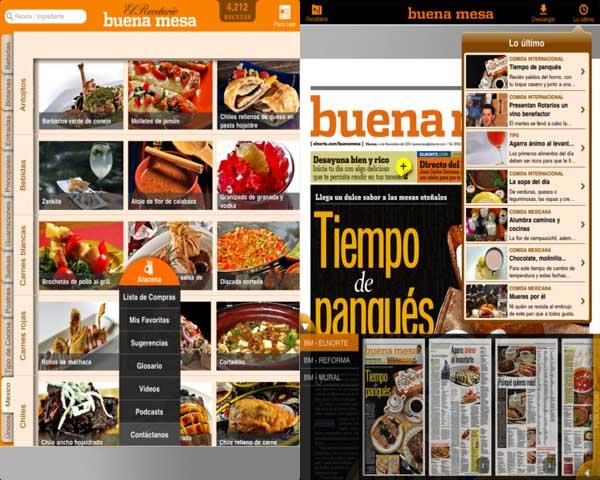 buena mesa Apps para cocinar con la ayuda de tu smartphone o tablet