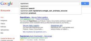 Oficial la prohibición a Google en Francia de autocompletado en búsquedas de Rapidshare