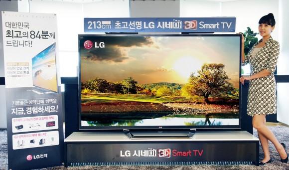 La TV LED de 84 pulgadas UltraHDTV de LG estará disponible en agosto - lg-tv-3d-uhd