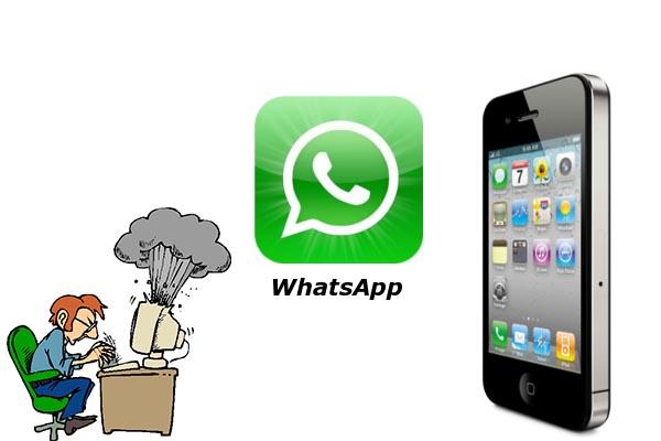 Nueva actualización de Whatsapp la deja prácticamente inservible - whatsapp-iphone-crash