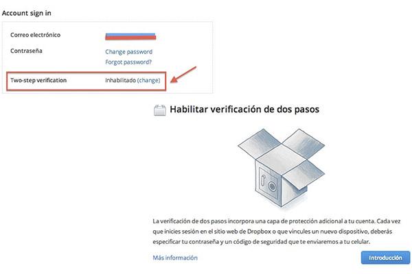 Cómo activar la verificación de dos pasos en Dropbox - Activar-verificacion-dos-pasos-dropbox-2