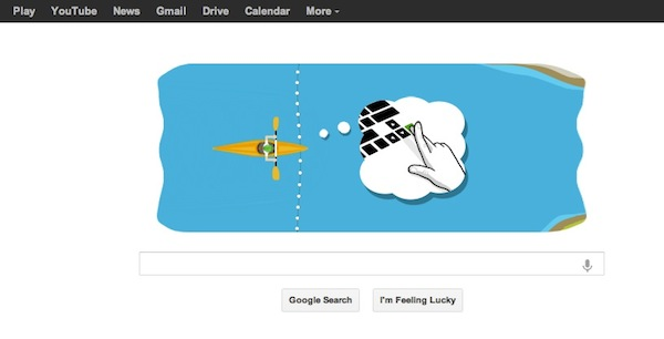 Google nos hace practicar canotaje en eslalon con el Doodle de hoy - Canotaje-eslalon-doodle