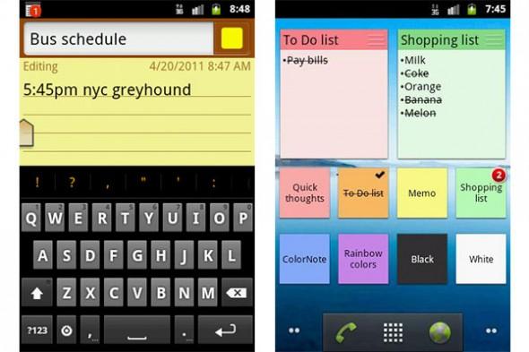Colornote android 590x393 Recordar pendientes con tu Android con ColorNote