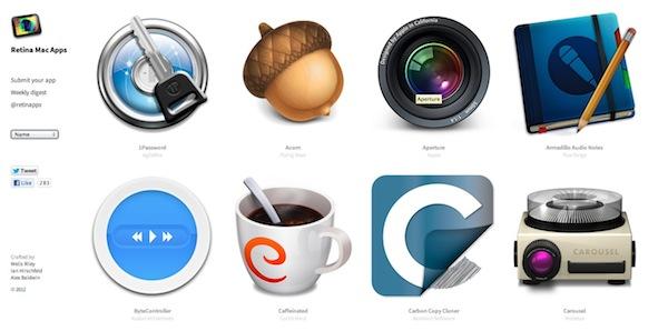Aplicaciones compatibles con Retina Display en RetinaMacApps - Retina-mac-apps