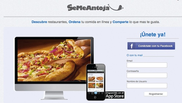 SeMeAntoja SeMeAntoja, una red social para pedir comida por Internet