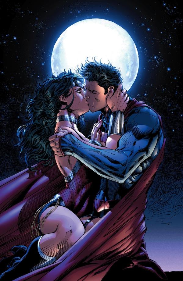 Superman y La Mujer Maravilla se hacen pareja en el cómic de DC - Superman-Mujer-maravilla-beso