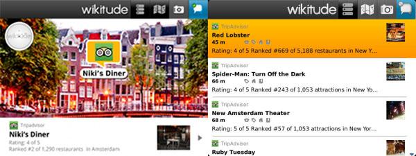 TripAdvisor lanza Wikitude, una aplicación con realidad aumentada exclusiva para BlackBerry - Wikitude-tripadvisor
