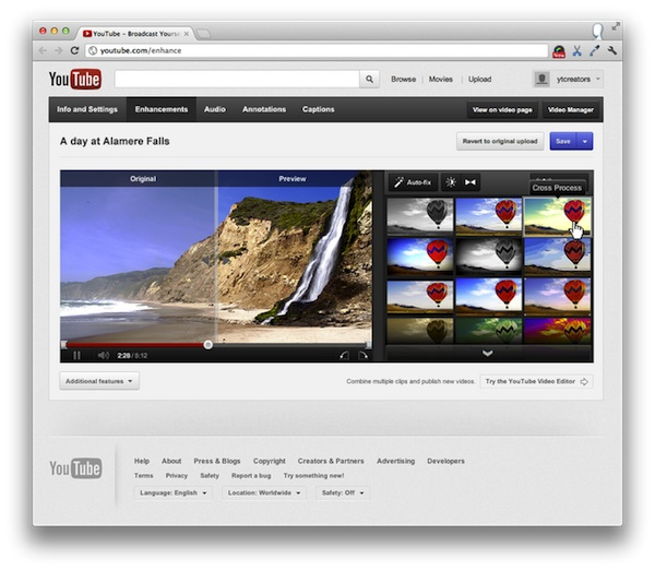 YouTube mejora su editor de video en linea - Youtube-editor-video