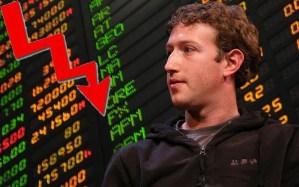 Acciones de Facebook caen y alcanzan su valor más bajo hasta ahora