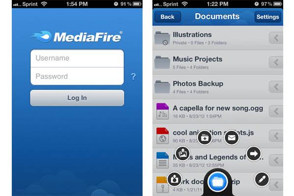 Mediafire lanza su aplicación oficial para iOS - Mediafire-ios