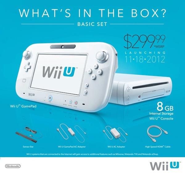 Nintendo anuncia los precios y fechas oficiales de lanzamiento de la Wii U en Estados Unidos - Wii-U-basic