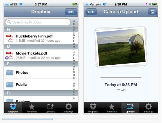 Nueva versión de Dropbox para iOS permite compartir en Facebook y Twitter - dropbox-para-ios