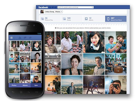 Facebook prueba función para subir fotos desde Android - facebook-para-android