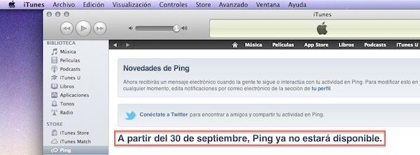 Ping, la red social musical de Apple cerrará sus puertas el próximo 30 de septiembre - iTunes-Cierre-30-septiembre