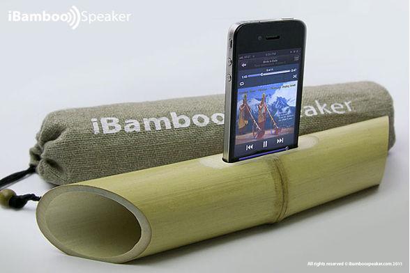 Amplificadores ecológicos para tu iPhone - ibamboo