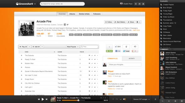 Artist 590x329 Grooveshark rediseña su sitio con importantes mejoras sociales y opciones para artistas