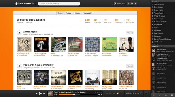Grooveshark rediseña su sitio con importantes mejoras sociales y opciones para artistas - Home-590x329