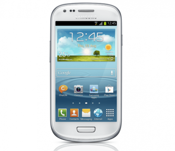 Samsung lanza oficialmente el Galaxy SIII Mini - SamsungGalaxyS3Mini_front-590x508