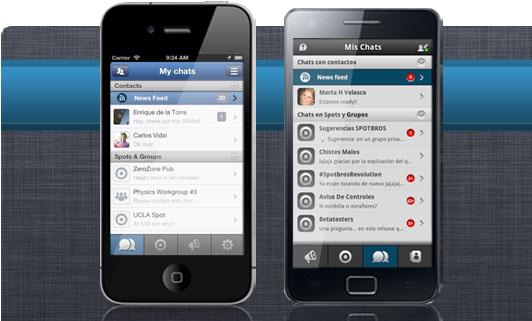 Spotbros ios android Spotbros, la aplicación alternativa a Whatsapp supera los 200 mil usuarios y llega a América Latina
