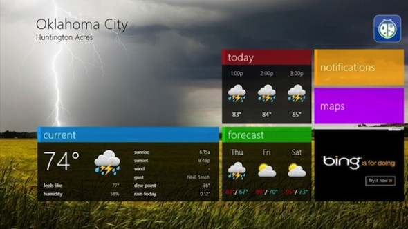 3 apps para disfrutar Windows 8 - Weatherbug-windows-8-590x332