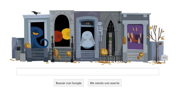 Google nos presenta divertido Doodle conmemorativo al Halloween - doodle-google-dia-de-brujas