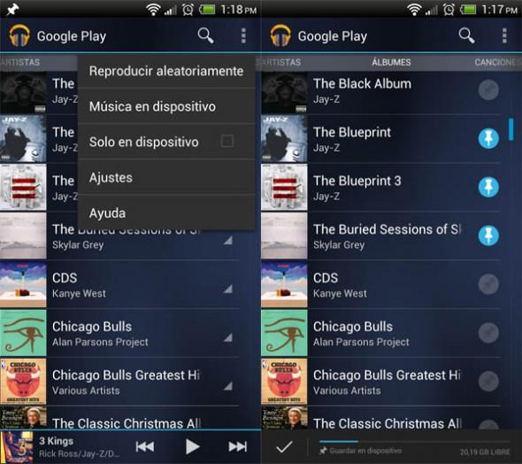 Cómo descargar la música de Google Music en tu Android para evitar gastos en datos móviles - google-play-android-590x524