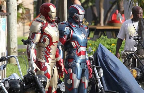 ironman 590x380 Se filtran mas fotos de la nueva armadura de Iron Man 3 y Iron Patriot