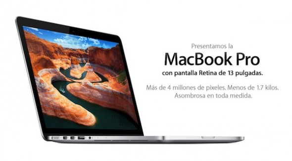 MacBook Pro de 13 pulgadas con Retina Display es presentada por Apple