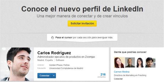 LinkedIn presenta su nuevo diseño con un nuevo perfil de usuario - nuevo-perfil-de-linkedin