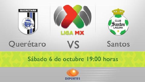 queretaro santos en vivo apertura 2012 Queretaro vs Santos en vivo, Liga MX (Apertura 2012)