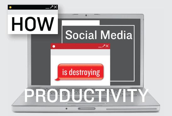 Cómo el Social Media está destruyendo la productividad [Infografía] - social-media-productividad