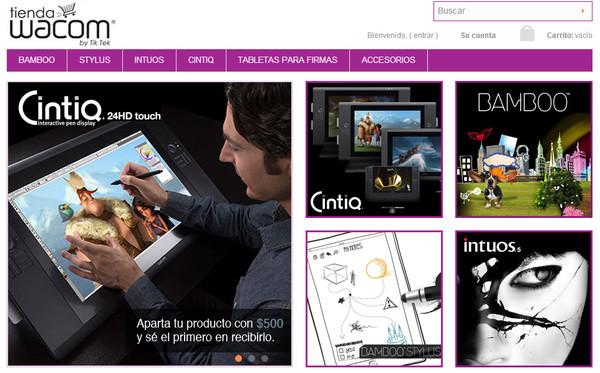 Wacom presenta su tienda en línea en México - tienda-wacom-online