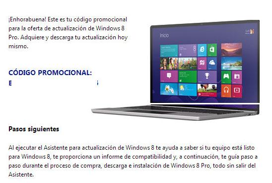 Error permite a cualquiera actualizar a Windows 8 a un precio de apenas 15 dólares - windows-8-promo-code