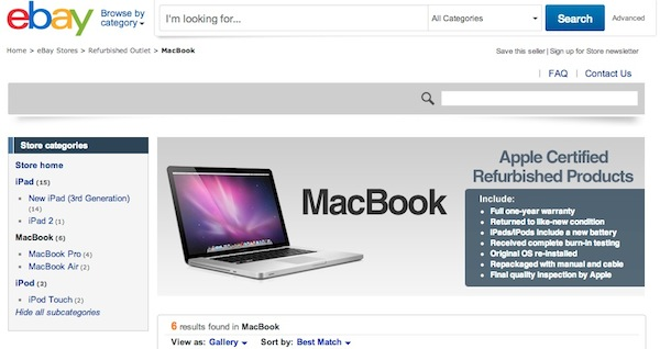 Apple Store refurbished Apple abre una tienda en Ebay para vender productos refabricados