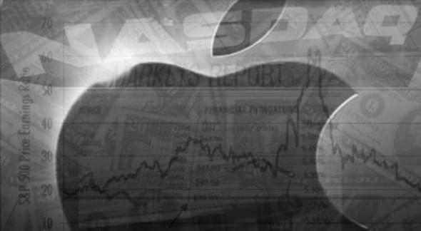 applestockmarket 590x324 Las acciones de Apple caerían un 25% y llegarían a costar 425 dólares